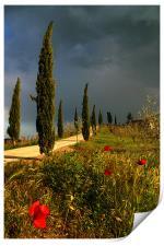 Toscana thunderstorm, Print