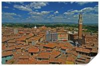 Siena Panoramic I, Print