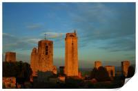 San Gimignano sunset, Print