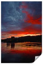 Burning scottish sky , Print
