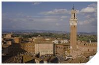 Aerial view of Siena, Print