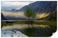 Sunset at Eidfjord, Print