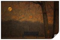 A PARK BENCH, Print