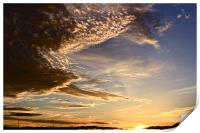 Evening Clouds, Print