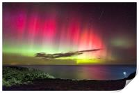 Northern Lights - St. Abbs Head, Print