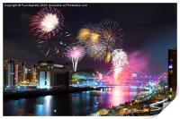 Newcastle upon Tyne, NYE Fireworks 2014/15, Print