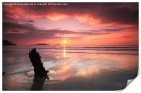 Sunset shipwreck, Print