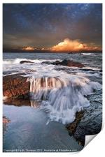 Dunbar Evening Sea Waves, Print