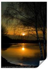 Lagoons Sunset, Print