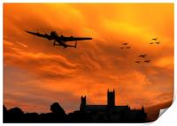 Lancaster Lincoln Sunset, Print