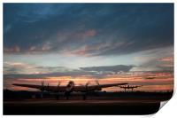 Lancasters Depart, Print