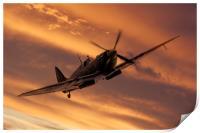 Spitfire Sunset Pass, Print