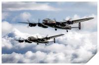 Flying Lancasters, Print