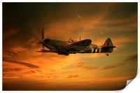 Spitfire Glory, Print