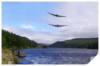 Bombers at the Dam , Print
