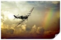 Spitfire Passing Through The Storm , Print