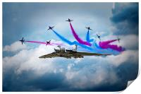 Vulcan Red Arrows Break, Print
