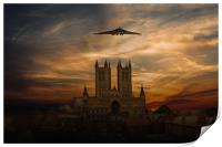 Vulcan And Lincoln Cathedral, Print