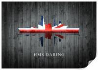 HMS Daring, Print