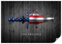 USS Arizona, Print