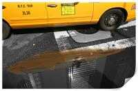 New York City: Yellow ants II, Print