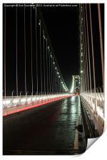 light trails on Clifton Bridge, Print