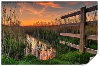 Norfolk sunset, Print