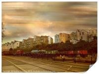 Dockside Train, Print