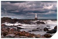 Aberdeen South Breakwater Light, Print