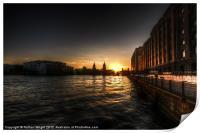 Old docks sunset., Print