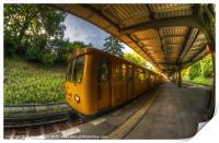 Summer eveing train., Print