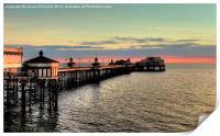 North Pier at Sunset, Print