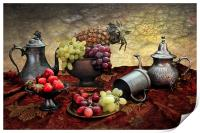 Pineapple and Grapes, Print
