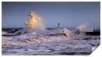 Seaham storm, Print
