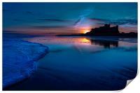 Bamburgh Blue Sunrise, Print