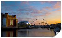 Newcastle Quayside, Print