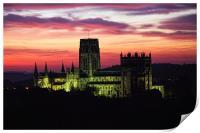 durham cathedral sunrise, Print