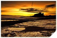Bamburgh Castle, Print