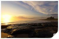 Bamburgh Sunrise, Print