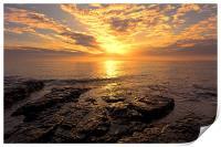 rocky sunrise, Print
