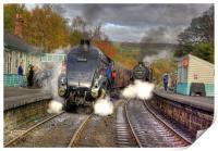 Steam at Grosmont, Print