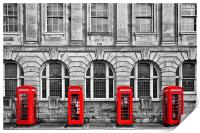 Red Telephone Boxes, Print