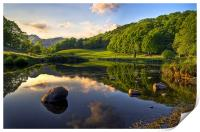 Golden Hour At Elterwater, Print