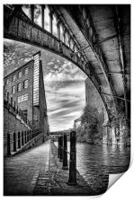 Rochdale canal, Manchester, Print