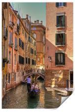 Gondola on the Rio Fuseri, Print