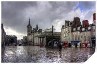 Aberdeen in the rain, Print
