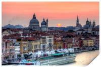 Venetian Dawn, Print