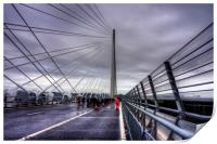 The North Tower of the Queensferry Crossing, Print
