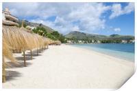 Quiet Beach At Puerto Pollensa, Print