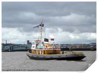 Brocklebank Tugboat, Print